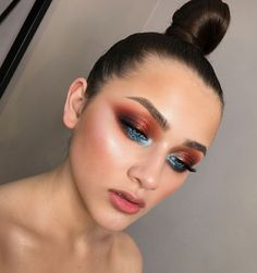 The only eye makeup that I want for a party – Miladiesnet - Makeup Trends 2019 Glam Makeup, Love Makeup, Makeup Inspo, Makeup Art, Makeup Inspiration, Hair Makeup, Party Makeup, Makeup Ideas, Alien Makeup