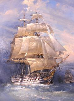 Ship of the line. Yacht Luxury, Moby Dick, Bateau Pirate, Old Sailing Ships, Ship Of The Line, Ship Drawing, Ship Paintings, Boat Art, Naval History