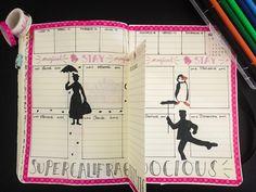 Ma semaine sur le thème de Mary Poppins! #bulletjournal #disney #marypoppins