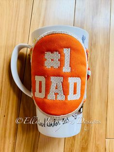 ITH #1 Dad Coffee Sleeve Embroidery Design 5x7 Embroidery Files, Machine Embroidery, Embroidery Designs, Coffee Sleeve, Following Directions, Design Files, Little Gifts, Gifts For Him, Favorite Color