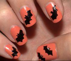 56 Best Halloween Bat Nail Art Images On Pinterest In 2018