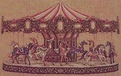 Teresa Wentzler Carousel  ~  Love this design have not stitched this one.