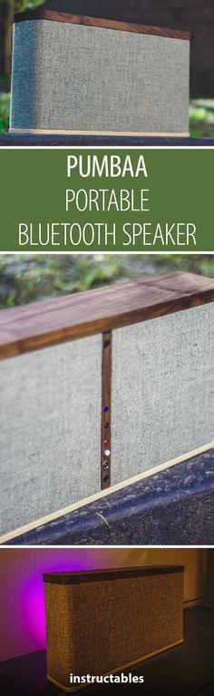 PUMBAA - Portable Bluetooth Speaker #audio #woodworking