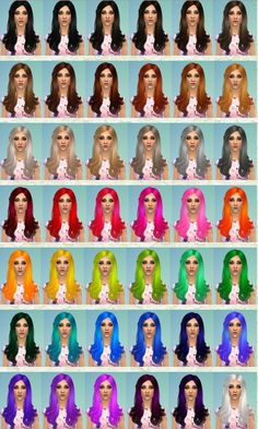 Nessa sims's Retexture / Edit Cazy`s 105 hairstyle retextured Long hairstyles for Females ~ Sims 4 Hairs