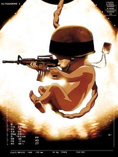 Illustration by Asaf Hanuka. Subject: bitter israeli reality : every new born baby boy will one day become a soldier. Tomer Hanuka, Military Love, Military Art, Baby Wallpaper, Mobile Wallpaper, Indian Army Wallpapers, Creation Art, Marine Mom, Marine Corps
