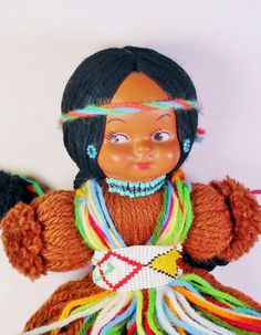 Mid Century  Native American Yarn Doll With by trippytrunk on Etsy, $20.00