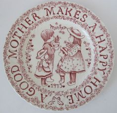 1973 A Good Mother Plate Crownford China Norma Sherman Mother's Day England