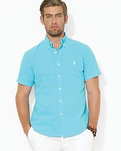 Polo Ralph Lauren Custom Short-Sleeved Oxford Sport Shirt - Slim Fit