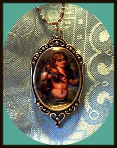 Victorian Mermaid Necklace by MermaidBeachgear on Etsy
