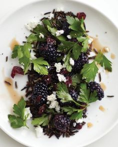 Sweet Paul's Black Salad with Wild Rice, Blackberries & Goat Cheese