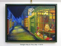 Tarragon Alley - I painted this one with Atelier Interactive Acrylics on acrylic gesso primed MDF board. Size 14.25 X 20 inches