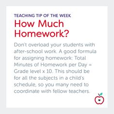 "As teachers, we all have mixed feelings when it comes to homework. Am I giving enough? Am I giving too little? Is this work beneficial for my students? Can they access the material without help from an adult? How long should they be spending on their work?  Depending on your mentality, homework can encompass a variety of different aspects, including worksheets, reading, ""skill and drill,"" project work, and more. Find out how I approach homework in my classroom at the link!"
