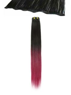 "I 12"" width Quick-Length piece (T2/Burg) dip dye http://www.hairtrade.com"
