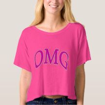 OMG Oh My God Quote Shirt Pink