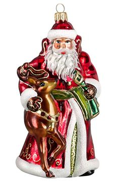 Joy to the World Collectibles Santa & Reindeer Ornament available at #Nordstrom