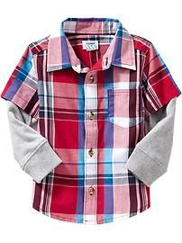 Plaid 2-in-1 Shirts for Baby