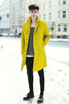 Men Style - Yellow, black  and grey - Cultura es Disenio
