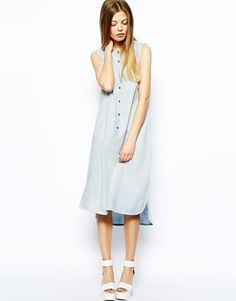 Vero Moda | Vero Moda Denim Acid Wash Dress at ASOS