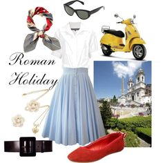 A wardrobe for a Roman Holiday from Fashionable Film