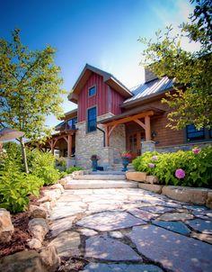 Orono Residence - traditional - exterior - minneapolis - Renae Keller Interior Design, Inc. Roof Design, Exterior Design, Exterior Tradicional, Colonial, 13 Desserts, Kb Homes, Metal Siding, House Siding, Shingle Siding