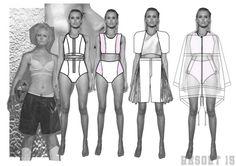 Fashion Sketchbook - fashion design development drawings; fashion portfolio // Charlotte Baker