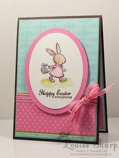 stampin up easter cards | sweet Easter card with #stampinup Every bunny set