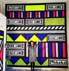 Best advice someone could ever give you. For 'Kopperberg' in London and Manchester by Camille Walala, Street Art, Street Mural, Camille Walala, Office Mural, Office Walls, Pop Up Restaurant, Pop Up Art, Memphis Pattern, Mural Art