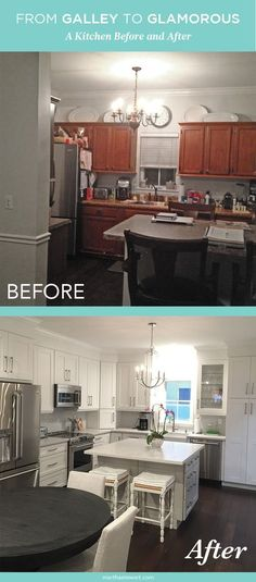 Ashley Patterson and her husband were tired of their cramped galley-style kitchen. Ready for something bigger and more open-feeling, the couple set out on turning their current space into the kitchen of their dreams. Click through to see the amazing before-and-after!