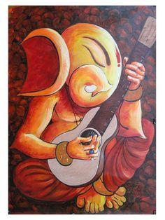 "Saatchi Online Artist sanjay kumar; Painting, ""ganesha _04"" #art"