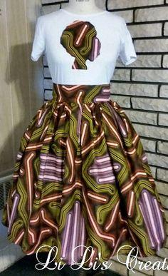 The Hodari Belle Skirt Set Made from African Dutch wax. The Hodari Belle Skirt…