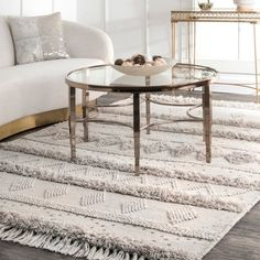 Shop for nuLOOM Ivory Wool Handmade Flatweave Contemporary Tribal Stripe Tassel Area Rug. Get free delivery at Overstock - Your Online Home Decor Store! Get in rewards with Club O! Cozy Rugs, Room Rugs, Online Home Decor Stores, Rugs, Furniture, Nuloom, Rugs In Living Room, Contemporary, Rugs Usa