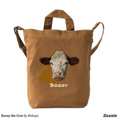 Bossy the Cow Duck Canvas Bag