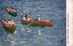 Pêcheurs et barques.