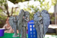 Turn Old Barbie Dolls Into Dr Who Weeping Angels. This pin is Brilliant.