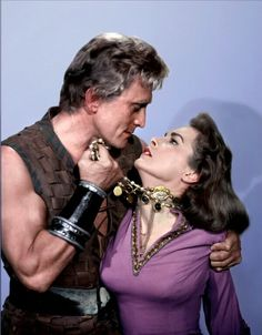 """The Vikings"" (1958) Janet Leigh and Kirk Douglas."