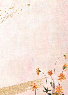 Download premium illustration of Orange daisies on pastel background oil