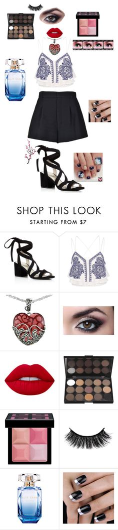 """""""Feri Me Summer"""" by contactlensvision ❤ liked on Polyvore featuring Kenneth Cole, River Island, Lord & Taylor, Lime Crime, Givenchy, Elie Saab and RED Valentino"""