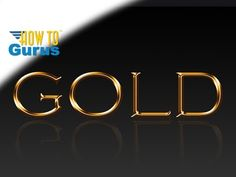 How to Create a Fast Metallic Gold Text Effect in Photoshop CS5 CS6 CC Tutorial - YouTube