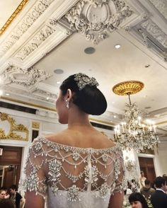 "See the ""Ready, Set, Showtime"" in our Marchesa's Keren Craig and Georgina Chapman Take Us Backstage at Their Spring 2016 Bridal Show gallery New Wedding Dresses, Designer Wedding Dresses, Lace Wedding, Wedding Bells, Dream Wedding, Bridal Show, Bridal Style, Marchesa Spring, Marchesa 2016"
