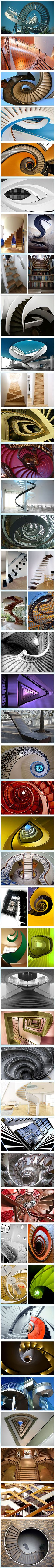 Stair Extraordinaire—50 Creative and Beautiful Stair Images   Coffeeoath.com,  hey Take the stairs then>@ LOL