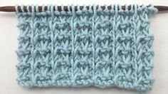 How to Knit the Whelk Stitch, great for menswear, blankets and washcloths
