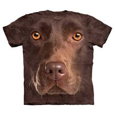 Funny! The Mountain: Chocolate Lab Face Tee XXL, at 18% off! Ok this is not cute clothes but I  Have a chocolate lab and that dog looks a lot like him so yea