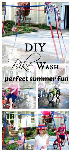 create your own DIY summer car wash and parade for those hot summer days with a few supplies and simple steps. Hours of fun for the kids.