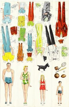 American National Insurance Company paper dolls. I love these. A family to be insured. Neat bit of advertising.
