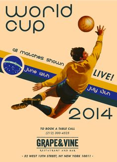 World Cup 2014 at Grape & Vine NYC. #WorldCup #WorldCup2014