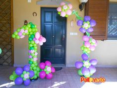 flower balloon birthday decor