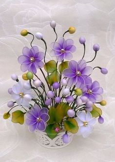 10 ideas flowers touch the image for see more and how to learning do ti. Nylon Flowers, Wire Flowers, Cloth Flowers, Plastic Flowers, Satin Flowers, Flower Vases, Fabric Flowers, Paper Flowers, Nylon Crafts
