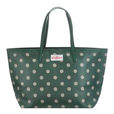 Button Spot | Button Spot Large Leather Trim Tote | Cath Kidston