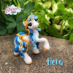 Hera Greek Goddess unicorn Filly  By Whisper Fillies Unique handmade polymer clay horse, pony, unicorn and fantasy creatures. Visit my collection of adorable little  figurines on Facebook, Instagram and Etsy!  Whisperfillies.etsy.com