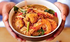 Norman Musa's prawn curry laksa.